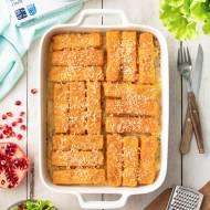Zapiekanka ziemniaczana z paluszkami rybnymi (5 składników)