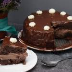Przepis #181 Czekoladowy tort - bez mąki, glutenu i białego cukru