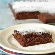 Ciasto czekoladowe szybko zamieszane, bez jajek i mleka, w pół godziny gotowe...