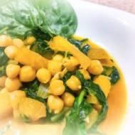 Tajskie curry z dynią i szpinakiem