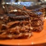 Ciasto z kakaowymi herbatnikami