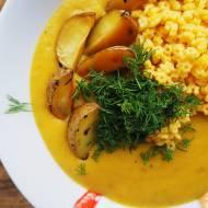 Aksamitna zupa z pieczonymi ziemniakami