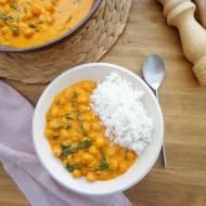 Curry z ciecierzycą i szpinakiem (Curry di ceci e spinaci)