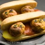 przepis na halloween - kanapki z oczami