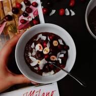 Krem czekoladowy z żurawiną i płatkami kokosa