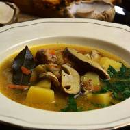 Zupa grzybowa z mięsem mielonym