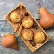 Bezglutenowe muffiny z gruszkami