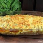 Karkówka pieczona z cebulą i serem