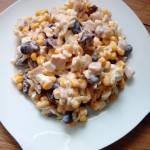 Sałatka z selera konserwowego, czerwonej fasoli i kukurydzy