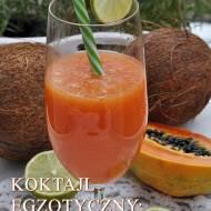 Koktajl z papai i wody kokosowej