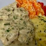 Fileciki z kurczaka w kremowym sosie porowo-koperkowym