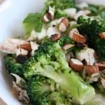 Sałatka z kurczakiem i brokułem
