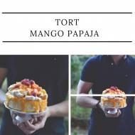 Tort mango papaja. Tysięczny wpis!