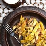 Szybki obiad z placków ziemniaczanych