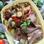Żeberka z warzywami (z patelni)