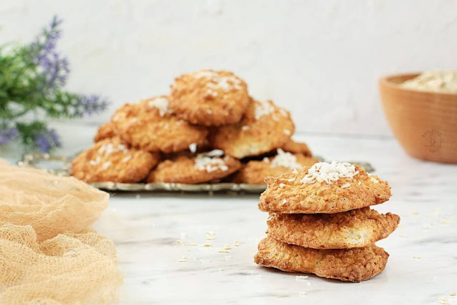 Kokosowo - Owsiane Ciasteczka Na Białkach