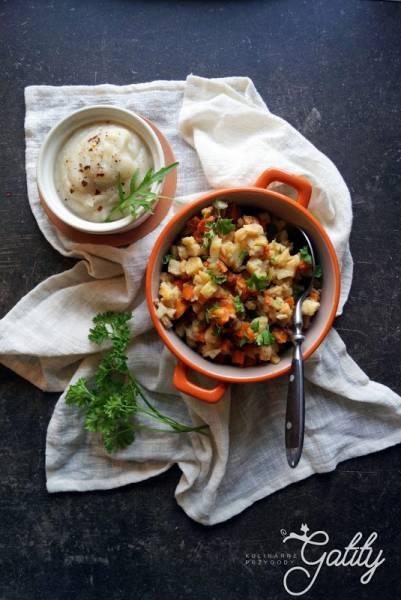 Sałatka jarzynowa z pieczonych warzyw (dieta dr Dąbrowskiej)