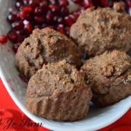 Owsiane babeczki bajaderki  z piekarnika - bez cukru, mąki i jaj