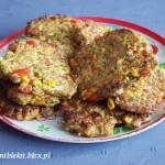Kotleciki z gotowanego kurczaka z warzywami