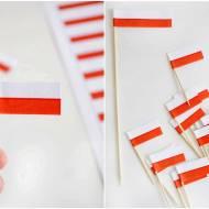 Mini flagi Polski na wykałaczki DIY