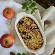 Zapiekane jabłka i gruszki pod kruszonką