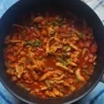 Potrawka z kurczaka na pomidorowo