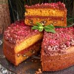 Torcik marchewkowy z kremem czekoladowym
