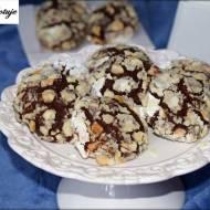 Ciastka bananowo - czekoladowe z dodatkiem orzechów