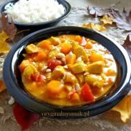Curry z kurczakiem, dynią i papryką