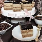 Ciasto kawowo orzechowe z kawową galaretką