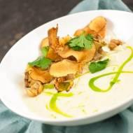 Zupa krem z pietruszki z pieczonym kurczakiem
