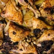 Niedzielny obiad: Kurczak z pieczonymi winogronami