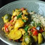 Gotowany kurczak z warzywami