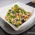 Paella z mleczkiem kokosowym i grzybami shitake