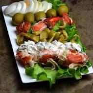 Sałatka z gotowanym homarem