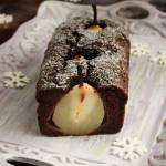 Ciasto marchewkowo - piernikowe z zatopionymi gruszkami