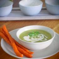 Kremowa zupa porowo- cukiniowa
