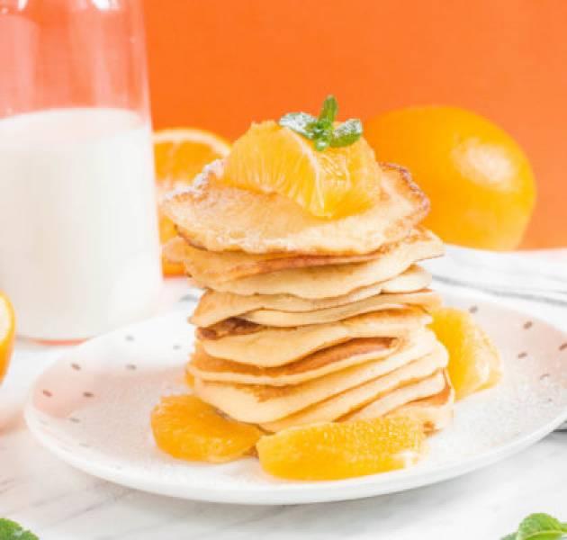 Placki z sokiem pomarańczowym