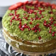 Ciasto Leśny Mech z kremem cynamonowym