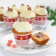 Muffinki korzenne z powidłami