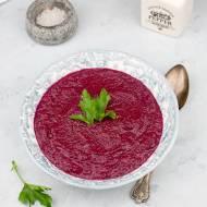 Zupa krem z pieczonych buraków i pietruszki