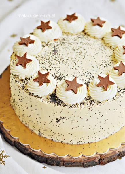 Tort Makowy z Wiśniami i Likierem