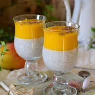Pudding chia na mleczku kokosowym z mango
