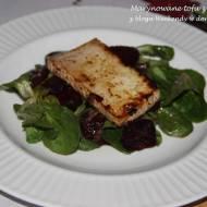 Marynowane tofu z roszponką i