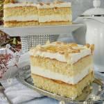 Ciasto z kremem sernikowym