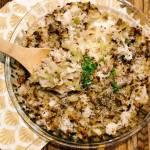 Poniedziałek: Zapiekanka z kapusty, ryżu i indyka