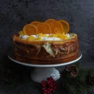 Pomarańczowy sernik z makiem z karmelizowanymi pomarańczami
