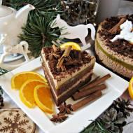 Torcik piernikowy z mascarpone i galaretką z mango i pomarańczy