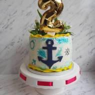Tort marynarski z kotwicą