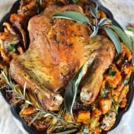 Kurczak zapiekany na makaronie i warzywach